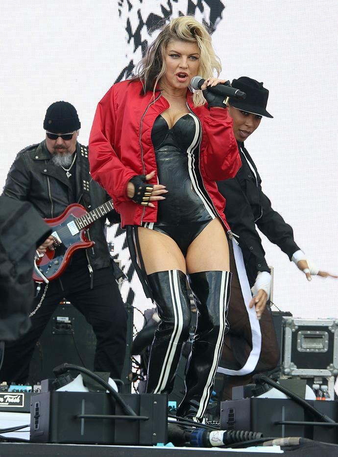 Fergie performs at the Wireless Festival in London. **Watch her racy new music video for M.I.L.F.$ in the next slide**
