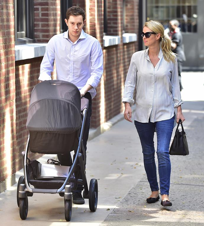 """Nicky Hilton and her husband James Rothschild are seen walking with their [newborn daughter Lily Grace](http://www.womansday.co.nz/celebrity/hollywood-stars/nicky-hilton-welcomes-her-first-child-5209