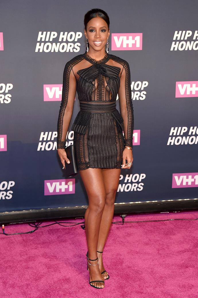 Kelly Rowland attended the VH1 Hip Hop Honors: All Hail The Queens event in New York.