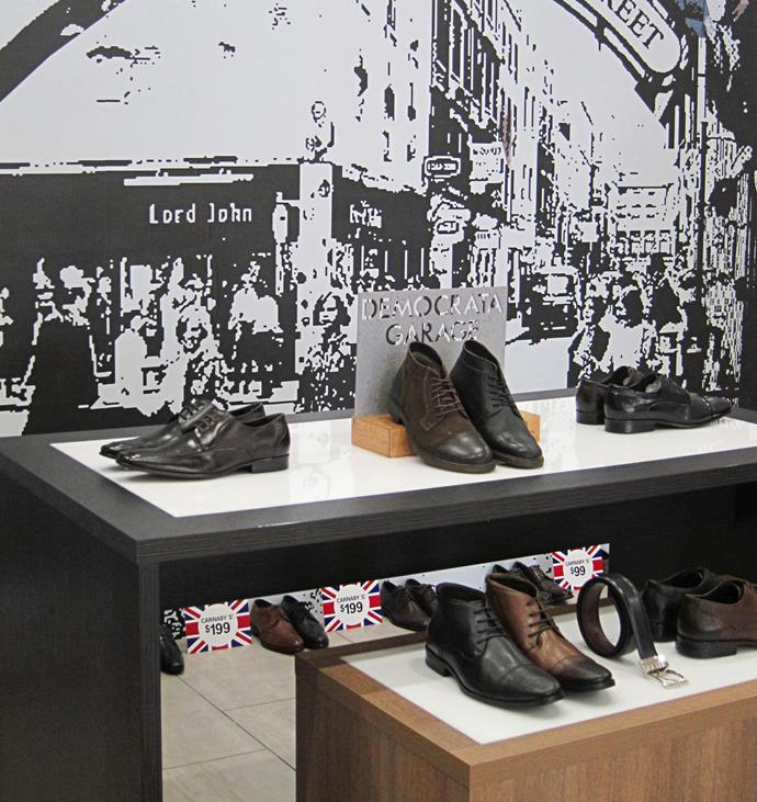 The Ginger, a reluctant shopper, bought two pairs  of shoes from Carnaby St.