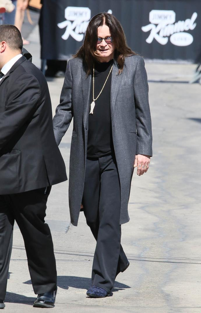 """Ozzy Osbourne heads out in Los Angeles - watch what the rocker had to say about his marriage being """"back on track"""" in the next video. **Gallery continues after the video**."""