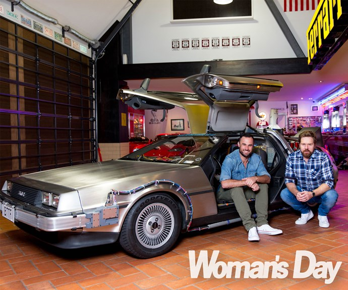 "A proud owner of one of the DeLoreans made famous in the films, *The Bachelor New Zealand* star Jordan, 32, tells, ""I remember when my father showed me *Back to the Future* when I was younger, and it kicked off my love for film-making and that type of storytelling."""