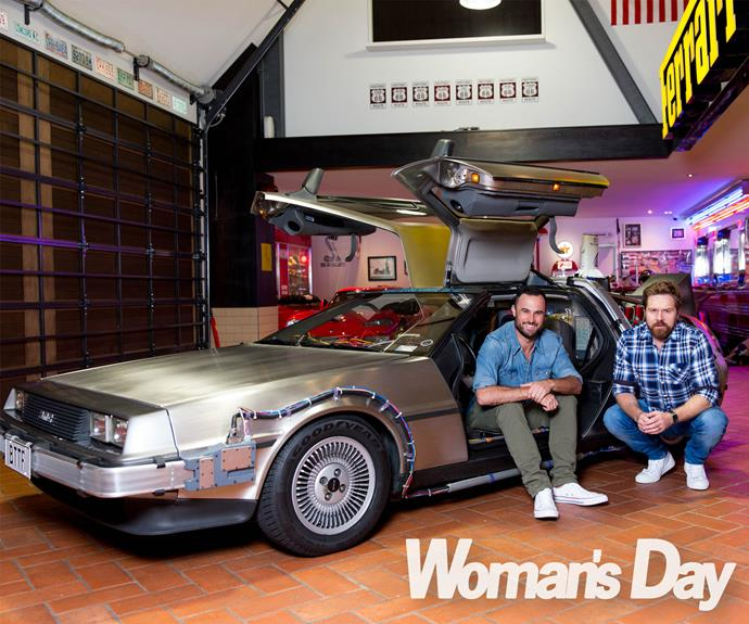 """A proud owner of one of the DeLoreans made famous in the films, *The Bachelor New Zealand* star Jordan, 32, tells, """"I remember when my father showed me *Back to the Future* when I was younger, and it kicked off my love for film-making and that type of storytelling."""""""