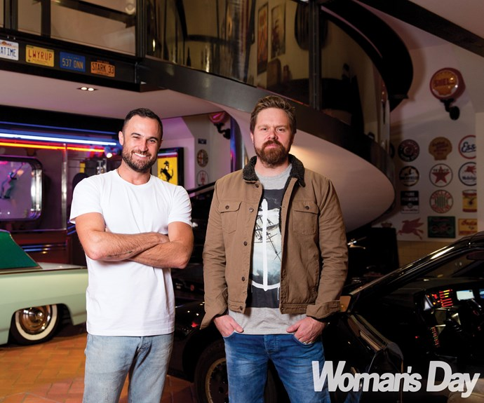 Now the boys get to share the screen on the second season of TV3's *Westside*, with Jordan gaining 25kg to resume the part of pawn-shop owner Rod Nugent opposite Will's detective Mike McCarthy.