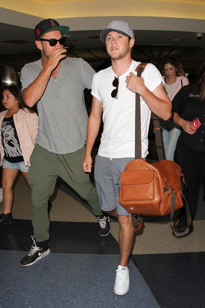 One Direction singer Niall Horan walks through LAX Airport.
