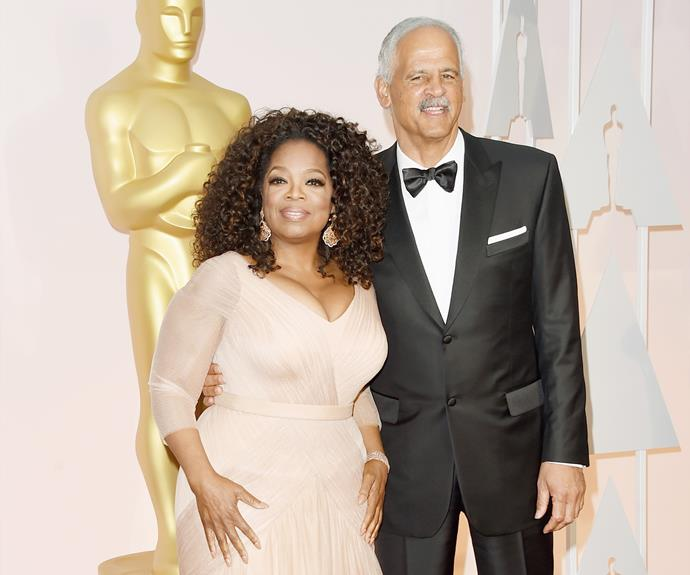 **Oprah and Stedman Graham:** This one is adorable and technically not right for this list. Oprah and her dashing man have been together since 1986 and engaged since 1992, but she has vowed never to get married because Stedman, an educator, author, businessman and speaker, is a traditional man and her schedule has meant that they would not have had a traditional marriage and would no longer be together today.   She stated that she believed, had she gotten married, she 'could not have had the life she built'. Because of this, she has been engaged to Stedman for 25 years.
