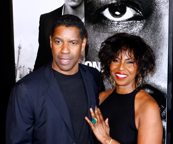 **Since 1983: Denzel and Pauletta Washington** The pair started dating in 1977, yet Denzel had to pop the question to Pauletta three times before she said yes to marriage. They renewed their vows in 1995 in South Africa, in a ceremony officiated by Archbishop Desmond Tutu, a famous opponent of apartheid.