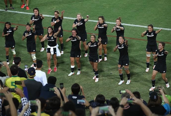 The team performed an emotional haka to their supporters after the heartbreaking defeat. Photo: Getty