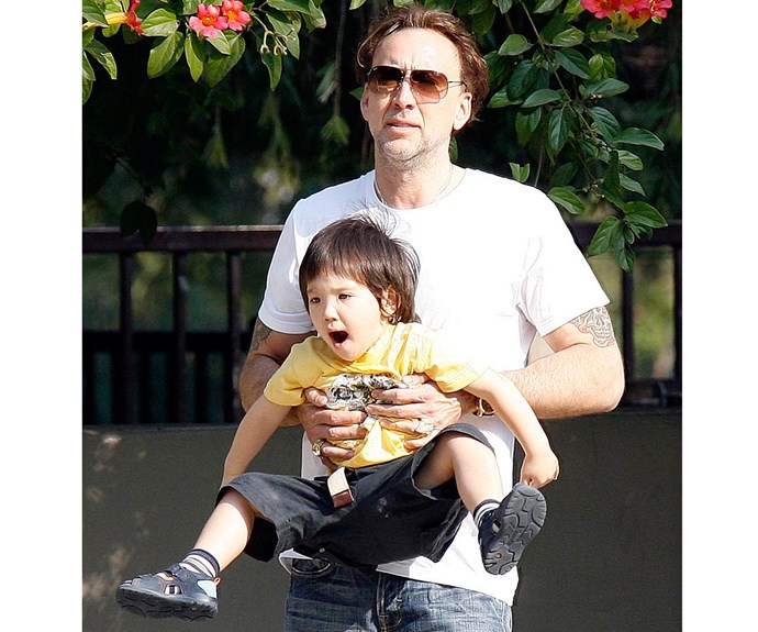 Comic book fan Nicolas Cage named his son Kal-El, after the birth name of comic book character Superman's birth name from his home planet. Nicolas, whose real name is Nicolas Kim Coppola, took his professional name, Cage, from Luke Cage, a character in the Marvel universe.