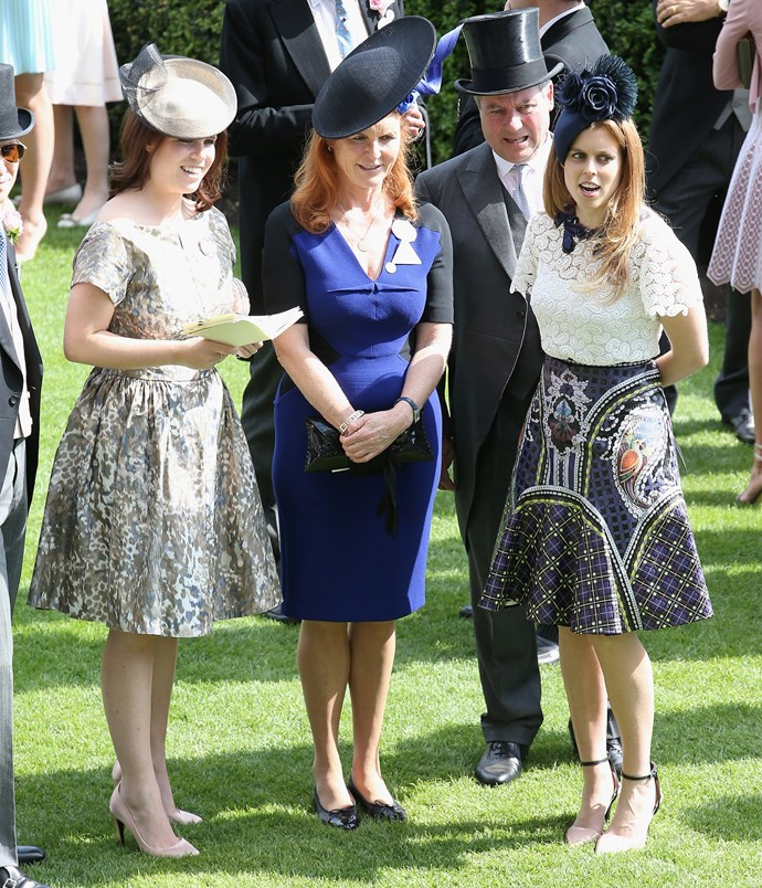 The royal cherishes her close-knit family, which includes mum Sarah Ferguson and sister Beatrice. Photo: Getty