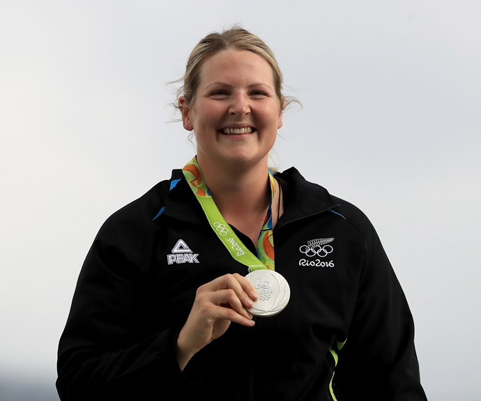 Shooter Natalie Rooney won New Zealand's first medal in Rio, claiming the silver for her efforts in the women's trap event.