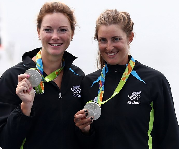 Rowing duo Genevieve Behrent and Rebecca Scown scored silver in the women's pair finals.