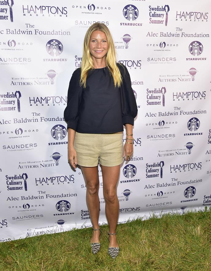 Gwyneth Paltrow attends an event in East Hampton, New York.