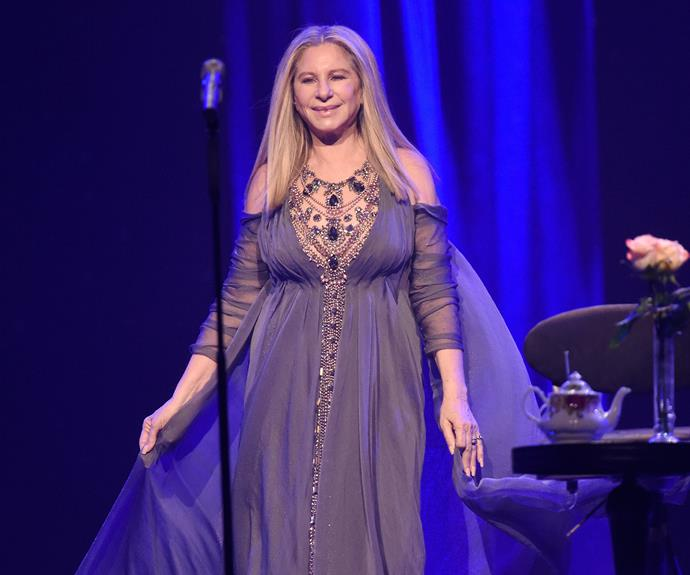 Barbra Streisand takes the stage in New York as part of her latest tour.