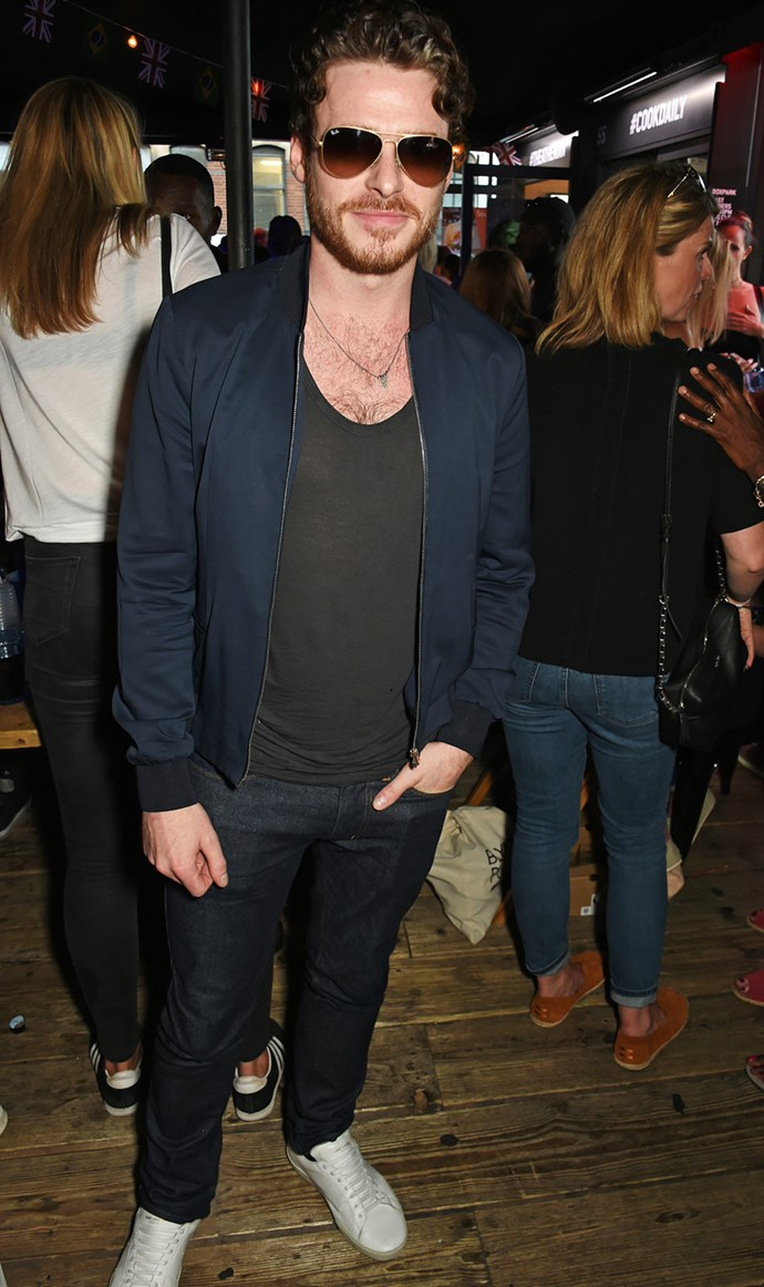 Actor Richard Madden joins Idris at the Superdry launch party in London.