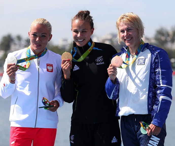 The Kiwi star finished in 39.864 seconds, comfortably ahead of second-place finisher Marta Walczykiewicz from Poland, who took silver with a time of 40.279 seconds.