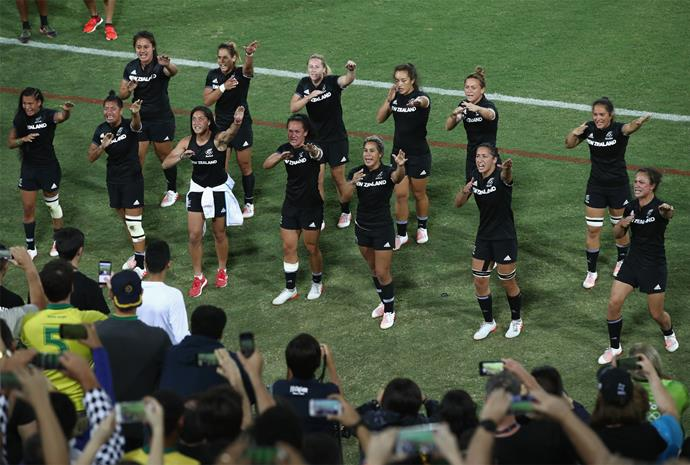 After the final, the team delivered an emotional haka to their supporters in the crowd.