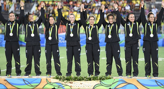 The women's rugby sevens team took silver after a hard-fought match against their Aussie rivals.