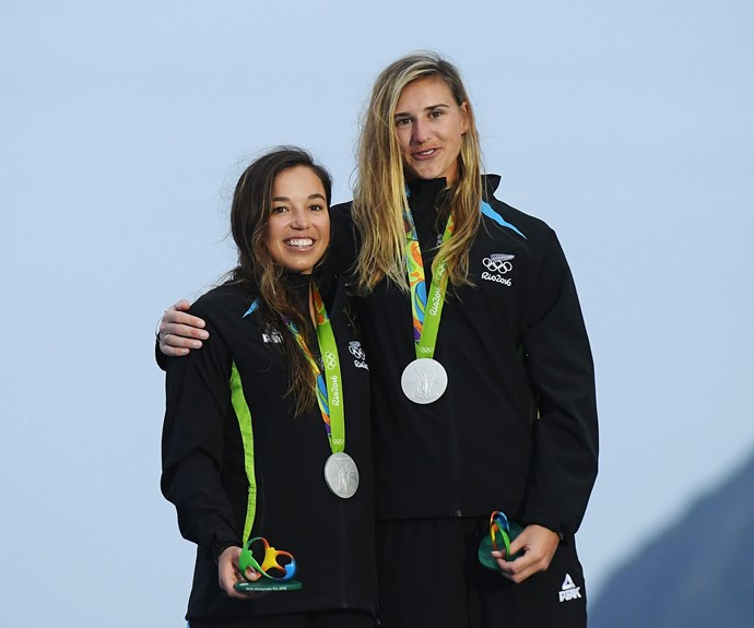 Alex Maloney and Molly Meech also earned their spot on the podium with a silver in the 49erFX.