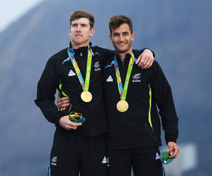 The golden pair are part of a rush of medal wins for New Zealand today.
