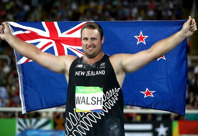 Tomas Walsh captured the bronze medal in the men's shot put final today.