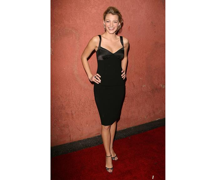 In 2006, at The Hollywood Life 6th Annual Breakthrough of the Year Awards, Blake's style continued to move toward 'celebrity' status in a cute satin little black dress.