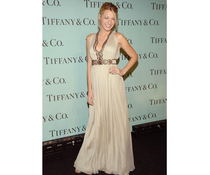 Blake even seemed to carry something of Serena's style into her own wardrobe. This cream and gold dress that she wore to Tiffany & Co's 2008 Blue Book Collection Launch in 2007 looked as if Blake and Serena had raided each other's wardrobes.
