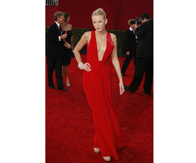 Her red Versace dress stole the show at the 2009 Emmys and we can definitely see why...