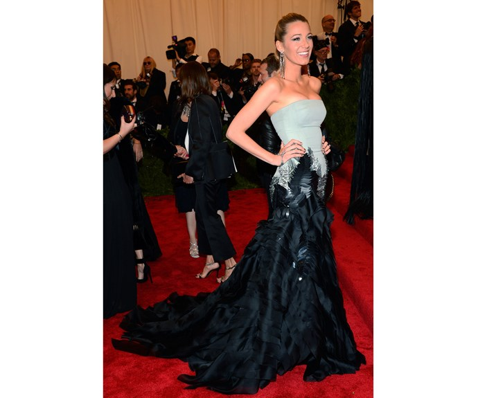 Here she is in Gucci at the Met Gala for the 'Punk: Chaos to Couture' exhibition.