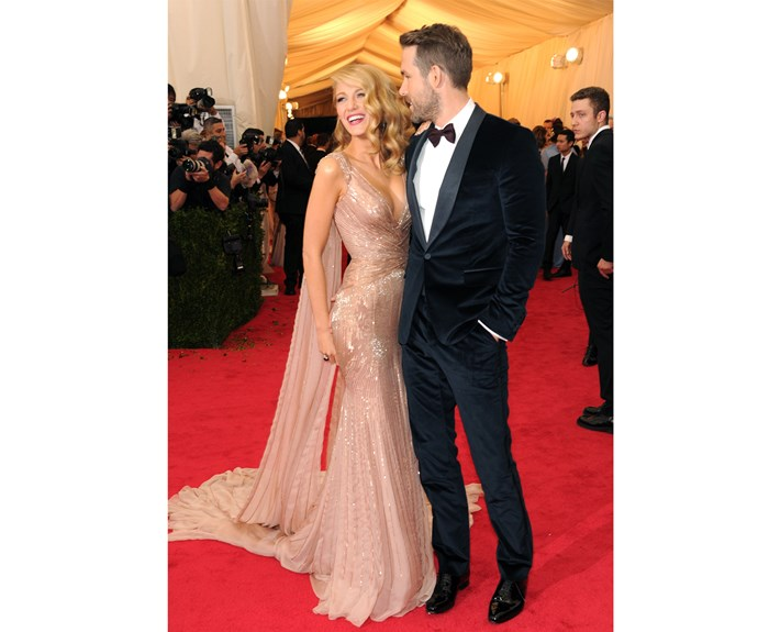 Blake and her husband stole the show on the red carpet of the Met Gala in 2014 - check out that amazing subtle cape detail on Blake!