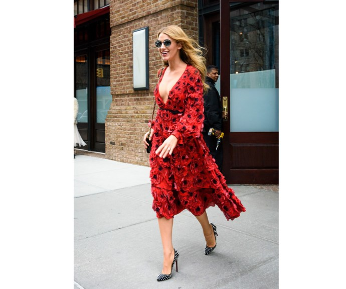 More recently, in 2016, Blake continued to school us in casual street style - did anyone else notice that now she is a fashion Goddess, she nearly always wears Louboutins?