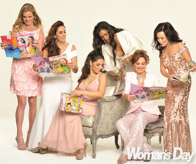 The women catch up on their *Woman's Day*.