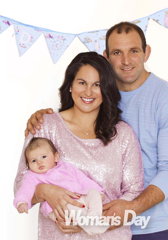 George and Kayla Whitelock with their daughter Addison Marie.