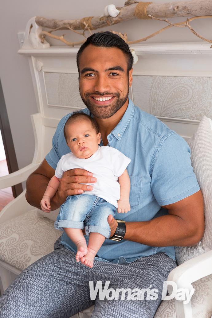 Victor Vito with baby boy Karlos Mateo.