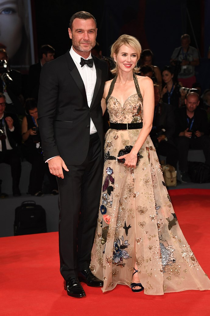 Naomi, who stars in the film alongside real-life husband Liev Schreiber, posed together with her man for photos on the red carpet.