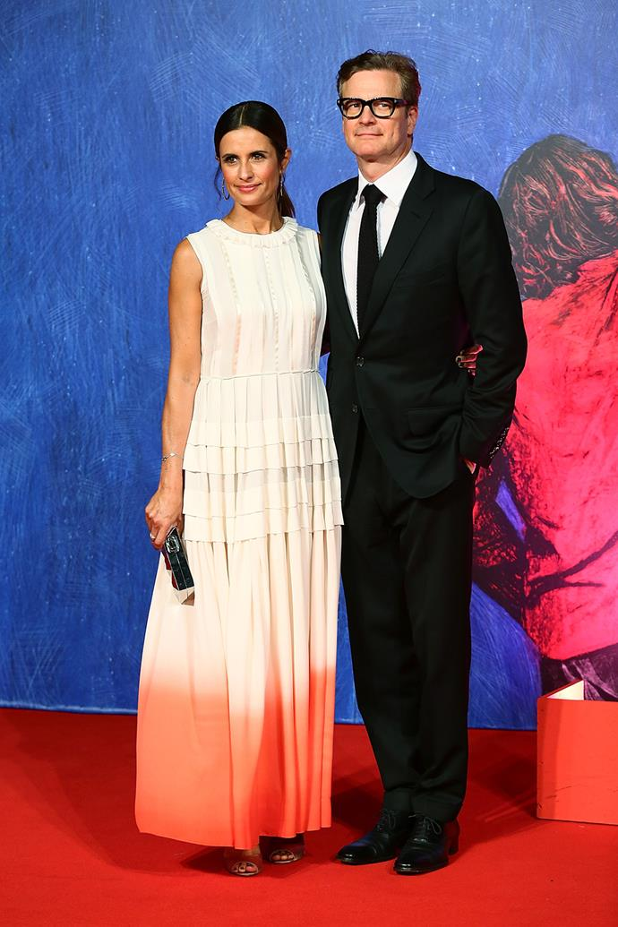 Colin Firth also attended the star-studded festival with wife Livia Giuggioli.