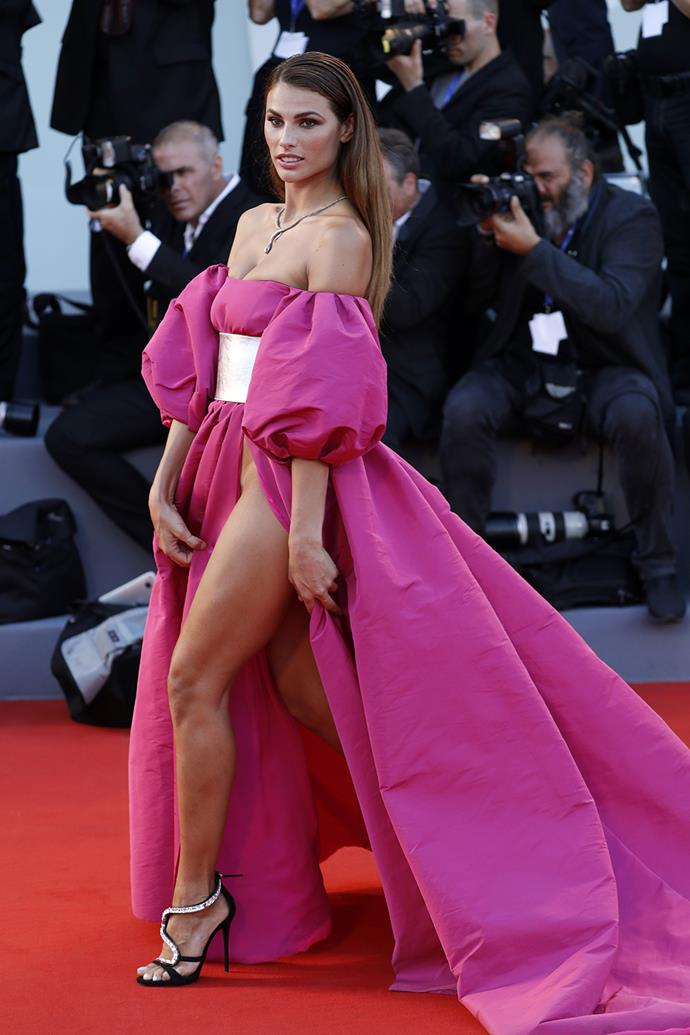 The eye-catching gowns have already been dubbed by many on the internet as the worst red carpet wardrobe malfunction yet.