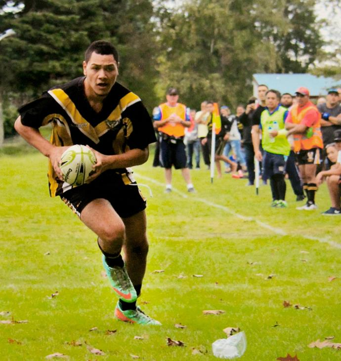 Tawhiri, seen playing for the Taupo Phoenix, had a promising career in league ahead of him when he died.