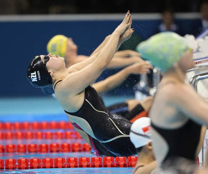 Mary set a new world record time in the process of winning her gold medal, powering to the finish line in 1:17.96m.