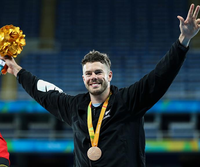 Rory McSweeney claimed bronze in the men's javelin F44 final.