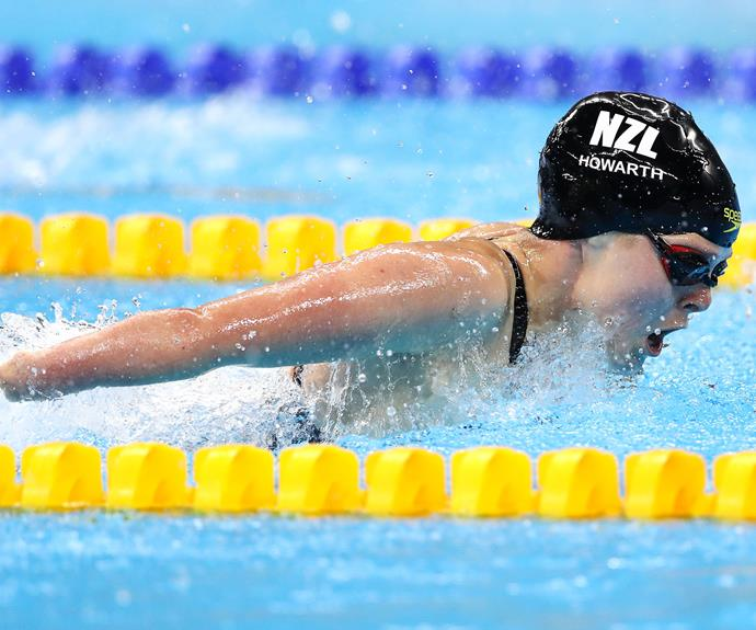 Para-swimmer Nikita Howarth won bronze in the women's 50m butterfly S7 final and gold in the 200m individual medley SM7.