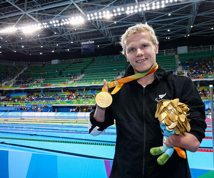 Cameron Leslie smashed his own world record to claim gold in the 150m individual medley SM4 final today as well.