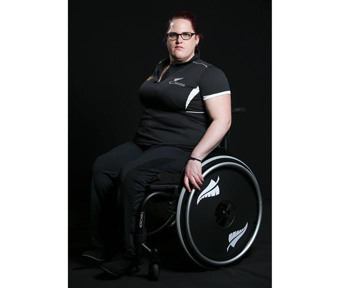 Jessica Hamill (pictured here at the 2016 New Zealand Paralympic Games team presentation at Sky City in July) won bronze at the final for the women's shot put F34 event.