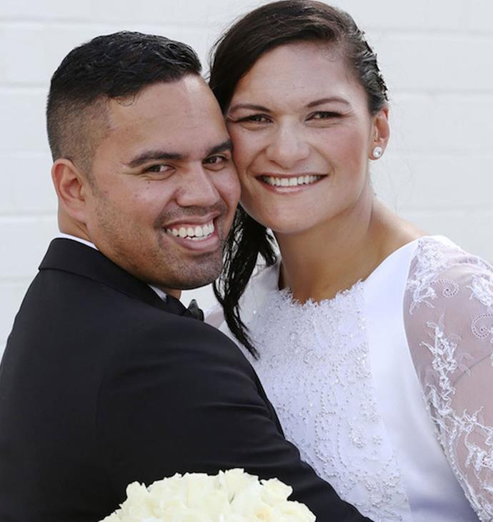 Valerie Adams with her sweetheart Gabriel Price. Photo: Woman's Day