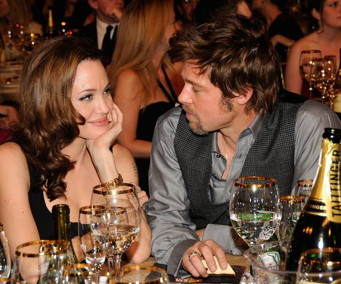 The couple share a moment at the 2008 Critics' Choice Awards.