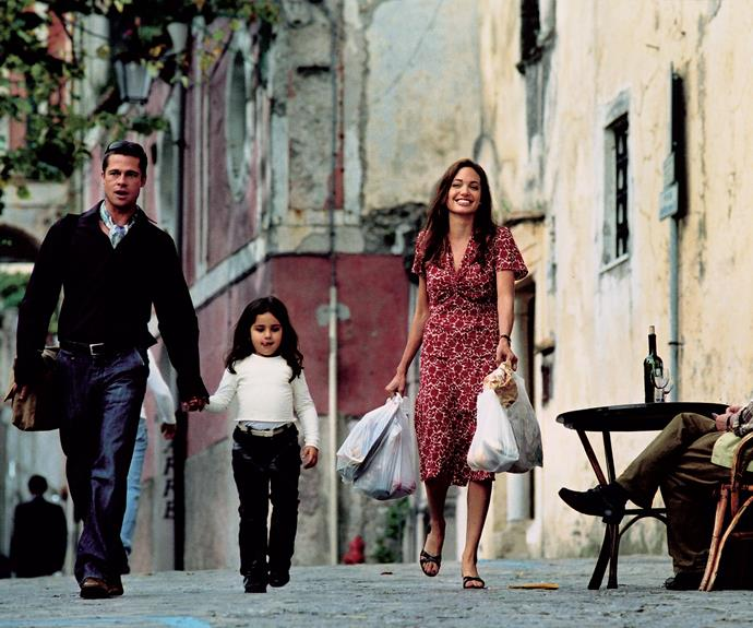 The co-stars are snapped filming a scene for their movie *Mr and Mrs Smith* in Italy in 2004. **Watch some of Brad and Angelina's best on-screen moments in the next video.**