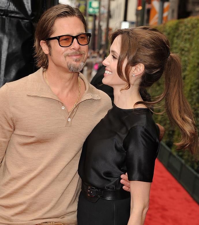 The couple seemed as in love with each other as ever at the 2011 premiere for Ange's film *Kung Fu Panda 2*.