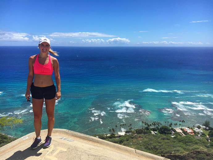 Kiwi Black Sticks star Gemma Flynn shared this picturesque view from her and Hawaii holiday with hubby Richie McCaw. Photo: Instagram