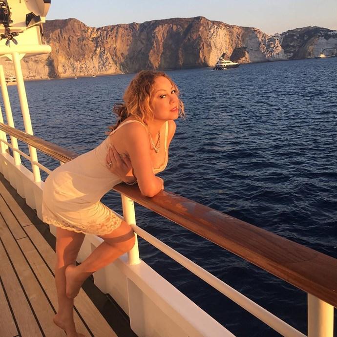 Mariah Carey shares a holiday snap from Ponza, Italy.