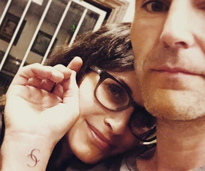 In a recent Instagram post, Courteney Cox's fiancé, Johnny McDaid shows off his fresh ink - he got her initials tattooed on his wrist.